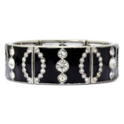 Liz Claiborne® Crystal-Accent Black Stretch Bracelet