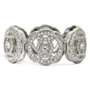 Liz Claiborne® Crystal-Accent Silver-Tone Stretch Bracelet