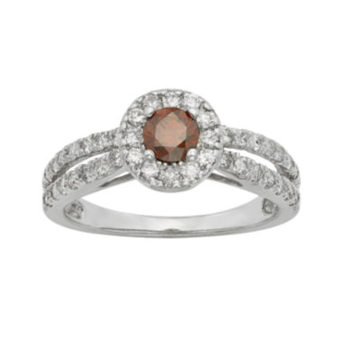 jcpenney.com | 1 CT. T.W. Certified White and Color-Enhanced Red Diamond Ring