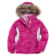Free Country® Faux Fur-Trimmed Snowboard Jacket - Girls 7-16
