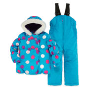 Polka Dot Snowsuit - Toddler Girls 2t-4t