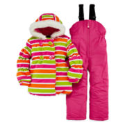 Luvgear Striped Snowsuit - Preschool Girls 4-6x