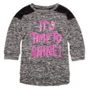 Total Girl® 3/4-Sleeve Sequin Top - Girls 7-16 and Plus
