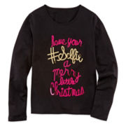 Total Girl® Long-Sleeve Sequin Tee - Girls 7-16 and Plus