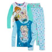 Disney Frozen 4-pc. Pajama Set - Girls 4-10