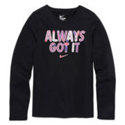 Nike® Long-Sleeve Just Do It Tee - Girls 7-16