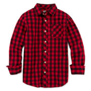 Arizona Woven Button-Front Shirt – Boys 8-20 and Husky