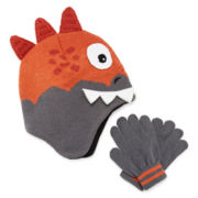 Spiked Monster Hat and Gloves Set - Boys 8-20