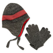 Peruvian Hat and Gloves Set - Boys 8-20