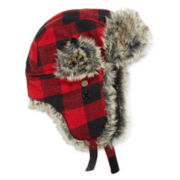 Buffalo Plaid Trapper Hat - Boys 8-20