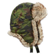 Quilted Camo Trapper Hat - Boys 8-20