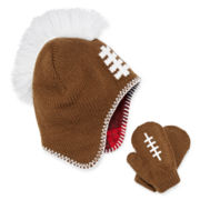 Spiked Football Hat and Gloves Set - Toddler Boys 2t-4t