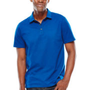 Claiborne® Short-Sleeve Solid Jersey Polo