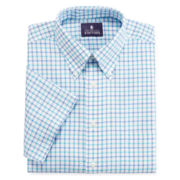 Stafford® Short-Sleeve Oxford Dress Shirt - Big And Tall