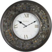 FirsTime® Glass Mosaic Wall Clock