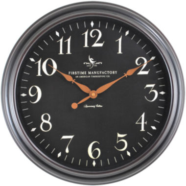 jcpenney.com | FirsTime® Belmont Classic Black Wall Clock