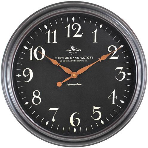 FirsTime® Belmont Classic Black Wall Clock