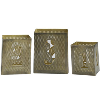 jcpenney.com | Luminaries Metal Number 3-pc. Candle Holder Set