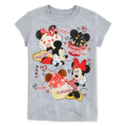 Disney Collection Mickey and Minnie Graphic Tee - Girls 2-12