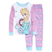 Disney Collection Frozen Elsa Pajama Set - Girls 2-10