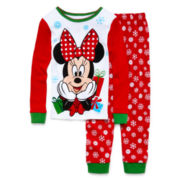 Disney Collection Minnie Mouse Christmas Pajama Set - Girls 2-10