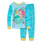 Disney Collection Ariel Pajama Set - Girls 2-10