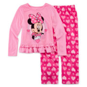 Disney Collection Minnie Mouse Pajama Set - Girls 2-8
