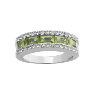 jcpenney.com | Peridot & Lab-Created White Sapphire Band In Sterling Silver