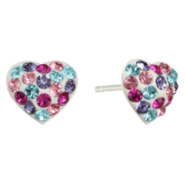 jcpenney.com | Childs Multicolor Crystal Heart Earrings