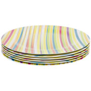 Zak Designs® Melamine Carnival 6-pc. Dinner Plate Set
