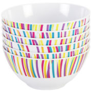 Zak Designs® Melamine Carnival 6-pc. Bowl Set