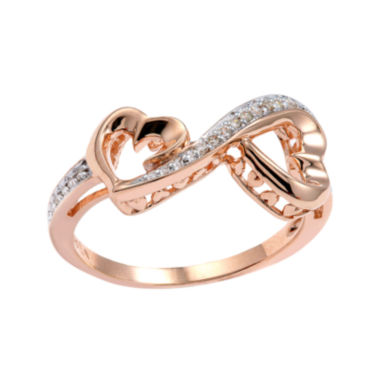 jcpenney.com | Love Grows™ 1/10 CT. T.W. Diamond Double-Heart Ring