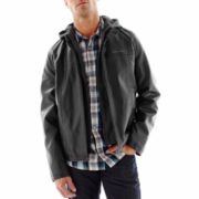 Levi's® Faux-Leather Racer Jacket