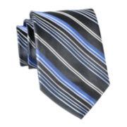 Wembley Blackout Striped Silk Tie