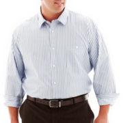 Claiborne Newburgh Striped Shirt-Big & Tall