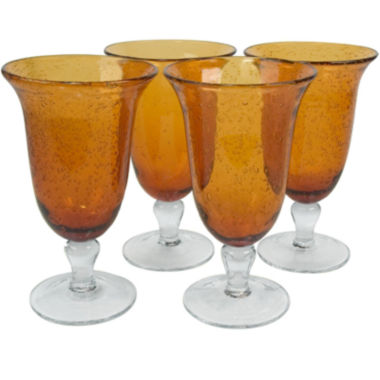 jcpenney.com | Iris 4-pc. Footed Glass Set
