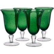 Iris 4-pc. Footed Glass Set