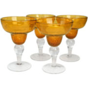 Iris 4-pc. Margarita Glass Set