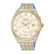 Seiko® Mens Two-Tone Stainless Steel Kinetic Watch