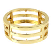 Worthington® Gold-Tone Cutout Wide Stretch Bracelet