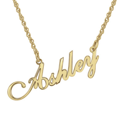 jcpenney.com | Personalized 14K Gold Over Sterling Silver Script Name Necklace