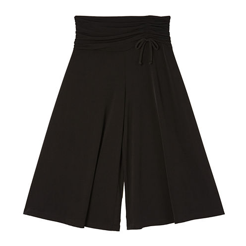 by&by Girl Shirred Waist Goucho Pants - Girls 7-16