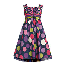 Bonnie Jean Dot Bands and Bows Dress - Girls Plus