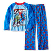 Superman® Comic Long-Sleeve 2-pc. Knit Pajama Set – Boys 4-12