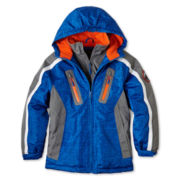 Weatherproof® Hooded Heavy-Weight Vestee Jacket - Boys 6-20