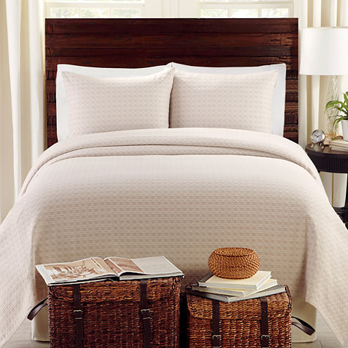 Lamont Home® Lanai Basketweave Coverlet Set