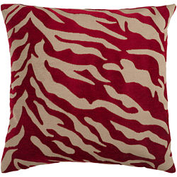 Surya® Velvet Zebra Decorative Pillow