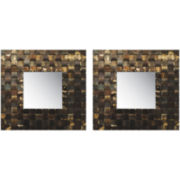 PTM Images™ Set of 2 Weave Frame Metal Wall Art