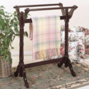 Cherry Finish Blanket Rack
