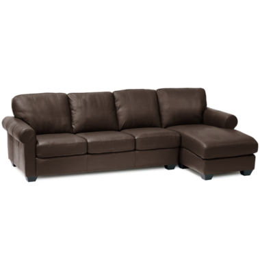 jcpenney.com | Leather Possibilities Roll-Arm 2pc. Left-Arm Sofa/Chaise Sectional